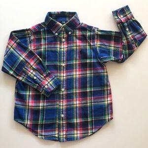 Ralph Lauren Boy's Long Sleeve Button Up Shirt 3T